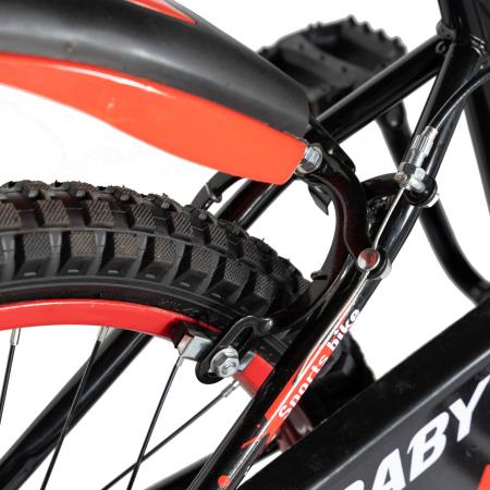 "Bicicleta baieti Rich Baby T2004C, roata 20"", C-Brake, 7-10 ani, negru/rosu [2]"