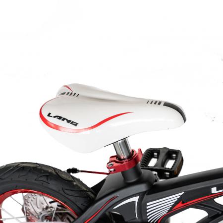 "Bicicleta copii Rich Baby W1246D, roata 12"", cadru aliaj magneziu, frana C-Brake, roti ajutatoare, 2-4 ani, negru/rosu [2]"