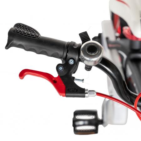 "Bicicleta copii Rich Baby W1246D, roata 12"", cadru aliaj magneziu, frana C-Brake, roti ajutatoare, 2-4 ani, negru/rosu [11]"