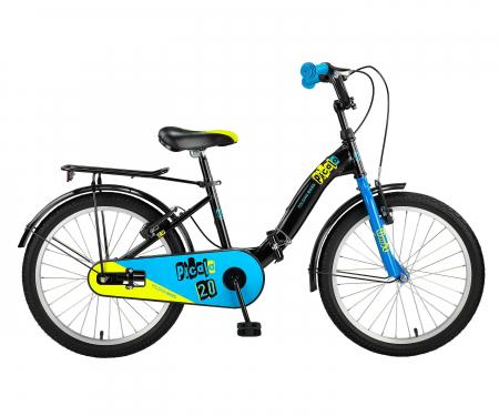 """Bicicleta Copii Umit Picolo Pliabila, Culoare Negru/Albastru, Roata 20"""", Cadru Otel [1]"""