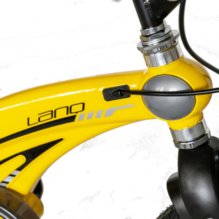 "Bicicleta copii W1639D, roata 16"", cadru aliaj magneziu, frana C-Brake, roti ajutatoare, 4-6 ani, galben/negru [6]"