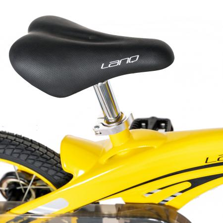 "Bicicleta copii W1639D, roata 16"", cadru aliaj magneziu, frana C-Brake, roti ajutatoare, 4-6 ani, galben/negru [2]"