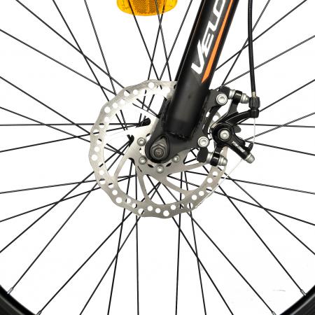 "Bicicleta de munte Velors V2610A, roata 26"", frana disc, 18 viteze, negru/alb/portocaliu [12]"