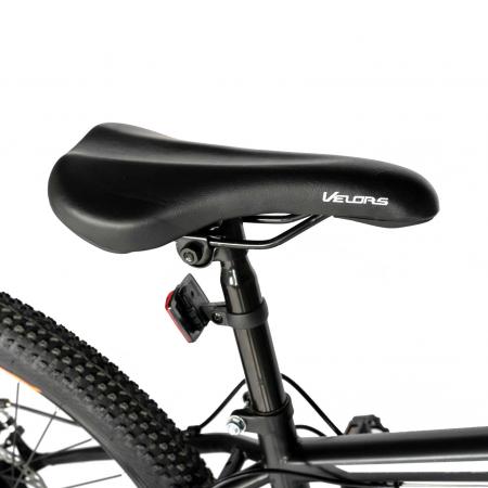 "Bicicleta de munte Velors V2610A, roata 26"", frana disc, 18 viteze, negru/alb/portocaliu [1]"