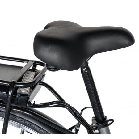 """Bicicleta electrica City (E-BIKE) CARPAT C1010E, roata 28"""", cadru aluminiu, frane V-Brake, transmisie SHIMANO 7 viteze, culoare gri/alb [1]"""