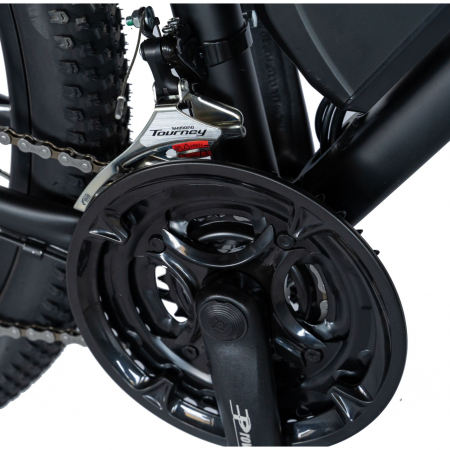 """Bicicleta electrica MTB (E-BIKE) CARPAT 27.5"""" C1011E, cadru aluminiu, frane mecanice disc, transmisie SHIMANO 21 viteze, culoare negru/alb [2]"""