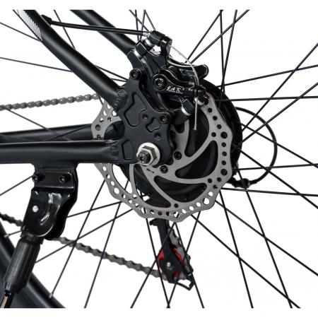 """Bicicleta electrica MTB (E-BIKE) CARPAT 27.5"""" C1011E, cadru aluminiu, frane mecanice disc, transmisie SHIMANO 21 viteze, culoare negru/alb [6]"""