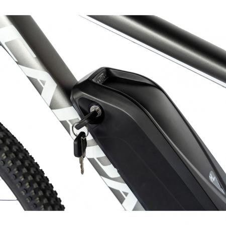 """Bicicleta electrica MTB (E-BIKE) Carpat 29"""" C1012E, cadru aluminiu, frane mecanice disc, transmisie SHIMANO 21 viteze, culoare gri/alb [6]"""