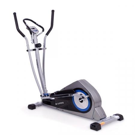 Bicicleta eliptica Corner carbon/albastru [0]