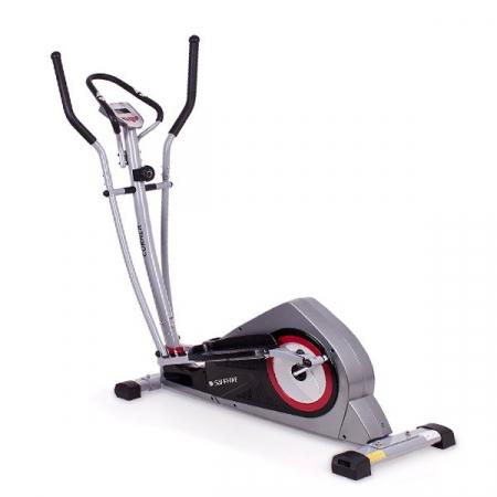 Bicicleta eliptica Corner carbon/rosu [0]