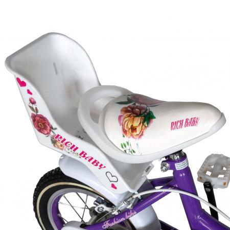 "Bicicleta fete Rich Baby T2005C, roata 20"", C-Brake, 7-10 ani, mov/alb [1]"