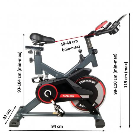 Bicicleta fitness indoor cycling Sportmann Togos [1]