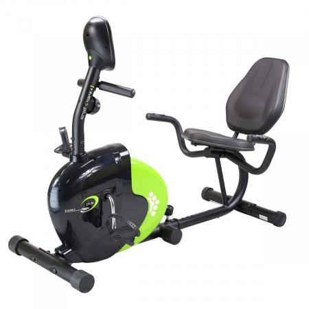 Bicicleta fitness magnetica recumbent HMS R9259 PLUS negru-verde [0]