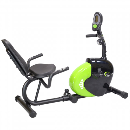 Bicicleta fitness magnetica recumbent HMS R9259 PLUS negru-verde [1]