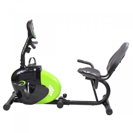 Bicicleta fitness magnetica recumbent HMS R9259 PLUS negru-verde [5]
