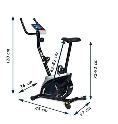Bicicleta magnetica EXIS SG-300B- negru/rosu [2]