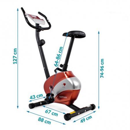 Bicicleta magnetica FALCON RS rosu/negru [2]