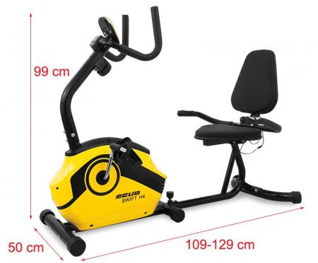 Bicicleta magnetica recumbent Scud Swift H4-galbena [1]