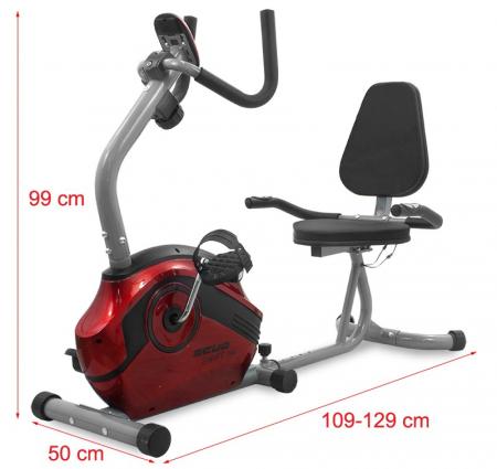 Bicicleta magnetica recumbent Scud Swift H4-rosie [1]