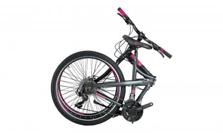 """Bicicleta Mosso Marine 2D pliabila, Aluminiu , Roata 26"""" , Culoare Negru/Rosu [0]"""