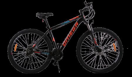 "Bicicleta mountainbike Omega Thomas 29"" negru/albastru/portocaliu [1]"