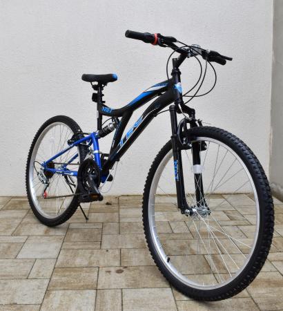 """Bicicleta MTB Tec Master full suspensie, roata 26"""", culoare Alb/Albastru [1]"""