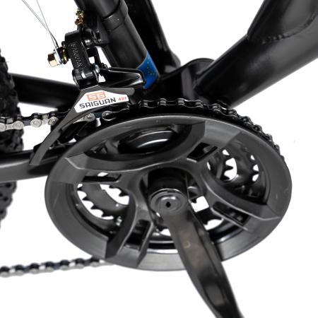 "Bicicleta munte, dubla suspensie, RICH R2649A, roata 26"", frana V-Brake, 18 viteze, negru / albastru [4]"