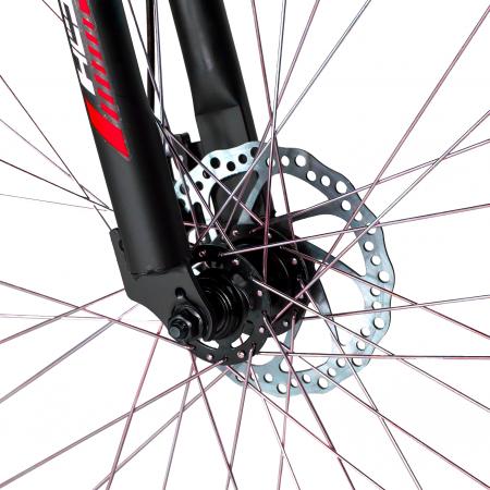 """Bicicleta munte, dubla suspensie, RICH R2750D, roata 27.5"""", frana disc, 18 viteze, negru/rosu [6]"""