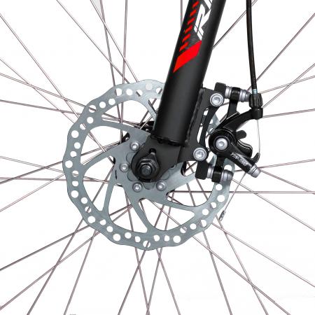 """Bicicleta munte, dubla suspensie, RICH R2750D, roata 27.5"""", frana disc, 18 viteze, negru/rosu [8]"""