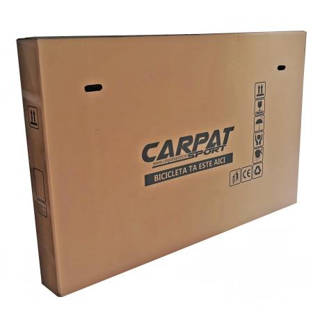 """Bicicleta pliabila 20"""" CARPAT C2052C, echipare SHIMANO 7 viteze, culoare gri/portocaliu [10]"""