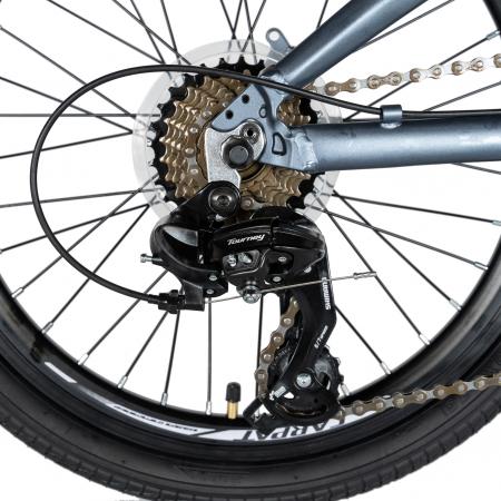 """Bicicleta pliabila 20"""" CARPAT C2052C, echipare SHIMANO 7 viteze, culoare gri/portocaliu [2]"""
