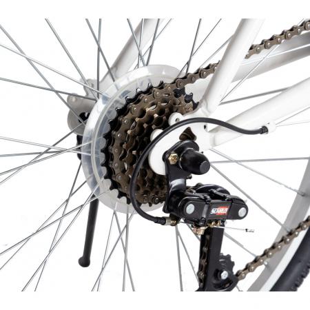 Bicicleta TREKKING 24 inch RICH R2430A, 6 viteze, culoare alb/albastru [2]