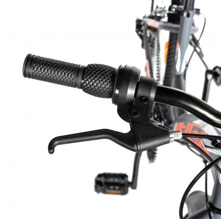 """Bicicleta TREKKING 24"""" RICH R2430A, 6 viteze, culoare gri/portocaliu [14]"""