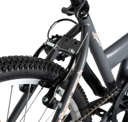 """Bicicleta TREKKING 24"""" RICH R2430A, 6 viteze, culoare gri/portocaliu [4]"""