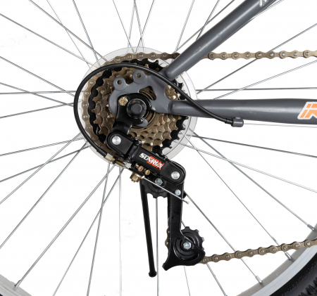 """Bicicleta TREKKING 24"""" RICH R2430A, 6 viteze, culoare gri/portocaliu [6]"""