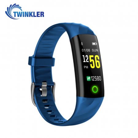 Bratara fitness inteligenta TKY-S5 cu functie de monitorizare ritm cardiac, Tensiune arteriala, Monitorizare somn, Pedometru, Notificari, Iluminare LED, Albastra [1]