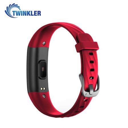 Bratara fitness inteligenta TKY-S5 cu functie de monitorizare ritm cardiac, Tensiune arteriala, Monitorizare somn, Pedometru, Notificari, Iluminare LED, Rosie [3]