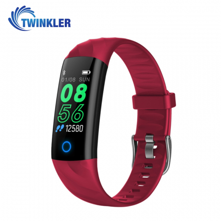 Bratara fitness inteligenta TKY-S5 cu functie de monitorizare ritm cardiac, Tensiune arteriala, Monitorizare somn, Pedometru, Notificari, Iluminare LED, Rosie [0]