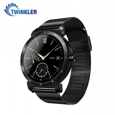 Ceas Smartwatch K88H Plus cu Functie Apelare prin Bluetooth, Senzor puls, Monitorizare somn, Notificari, Pedometru, Incarcare magnetica, Negru [0]