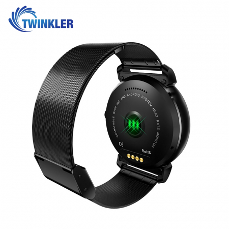 Ceas Smartwatch K88H Plus cu Functie Apelare prin Bluetooth, Senzor puls, Monitorizare somn, Notificari, Pedometru, Incarcare magnetica, Negru [2]