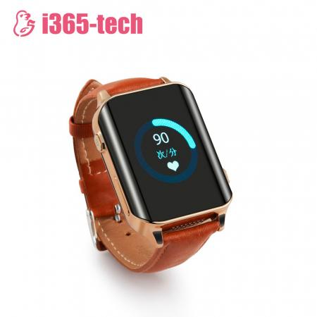 Ceas Smartwatch Pentru Adulti / Varstnici i365-Tech A16 cu Functie Telefon, Senzor puls, Localizare GPS, Pedometru ; Maro [2]