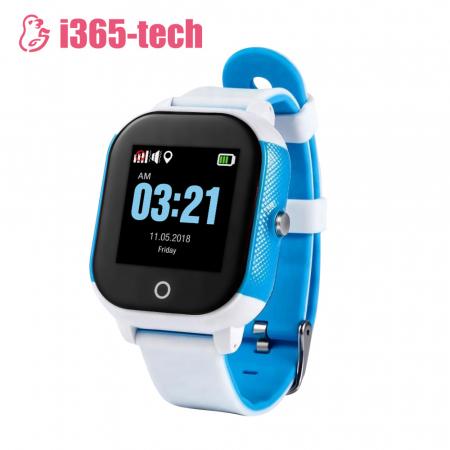 Ceas Smartwatch Pentru Copii i365-Tech FA23 cu Functie Telefon, Localizare GPS, SOS, Istoric traseu, Pedometru, Alb ; Albastru [0]