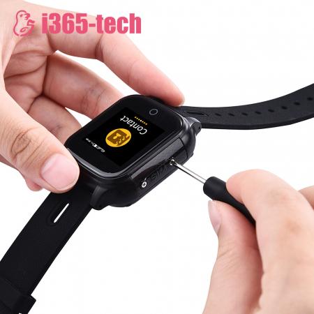 Ceas Smartwatch Pentru Copii i365-Tech FA28 cu Functie Telefon, Apel video, Localizare GPS, Camera, Pedometru, SOS, IP54, 4G, Negru [5]