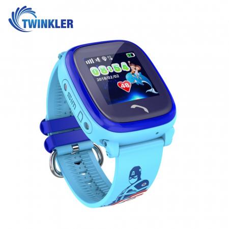 Ceas Smartwatch Pentru Copii Twinkler TKY-DF25 cu Functie Telefon, Localizare GPS, Pedometru, SOS, IP54 ; Albastru, Cartela SIM Cadou [1]