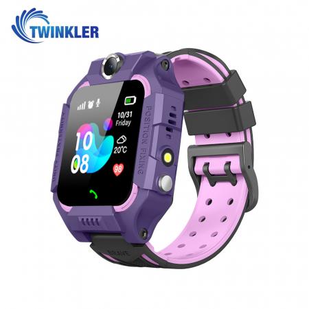 Ceas Smartwatch Pentru Copii Twinkler TKY-GK01 cu Functie Telefon, Localizare GPS, Camera, Lanterna, Joc Matematic, Apel de monitorizare, Mov [0]