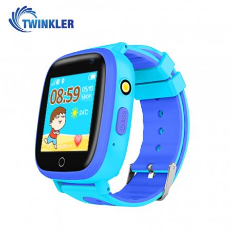 Ceas Smartwatch Pentru Copii Twinkler TKY-Q11 cu Functie Telefon, Localizare GPS, Camera, Lanterna, SOS, Pedometru, Joc matematic, IP54 ; Albastru [1]
