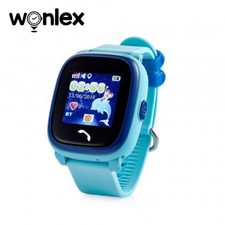 Ceas Smartwatch Pentru Copii Wonlex GW400S WiFi cu Functie Telefon, Localizare GPS, Pedometru, SOS, IP54 ; Bleu, Cartela SIM Cadou [0]