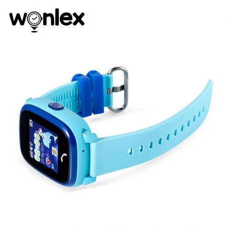Ceas Smartwatch Pentru Copii Wonlex GW400S WiFi cu Functie Telefon, Localizare GPS, Pedometru, SOS, IP54 ; Bleu, Cartela SIM Cadou [3]