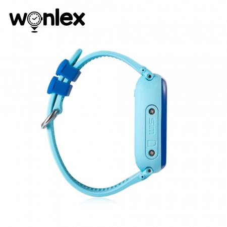 Ceas Smartwatch Pentru Copii Wonlex GW400S WiFi cu Functie Telefon, Localizare GPS, Pedometru, SOS, IP54 ; Bleu, Cartela SIM Cadou [1]
