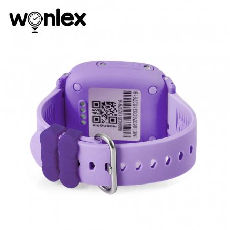 Ceas Smartwatch Pentru Copii Wonlex GW400S WiFi cu Functie Telefon, Localizare GPS, Pedometru, SOS, IP54 ; Mov, Cartela SIM Cadou [2]